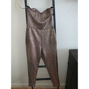 Gold sparkle jumpsuit